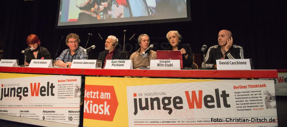 Internationale Gäste auf dem Podium