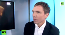 Iwan Rodionow im Studio von RT Deutsch. Screenshot: Youtube