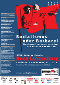 Poster of the 24th Rosa Luxemburg Conference